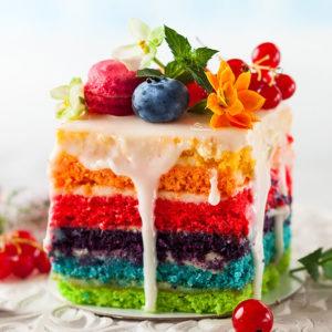 Tort z kolorowym biszkoptem gdansk